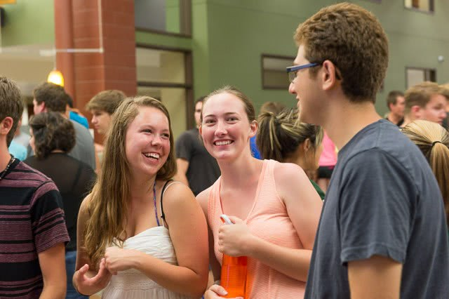 Students enjoy Ramapalooza at the Student Recreation Center during Ram Welcome, August 23, 2013