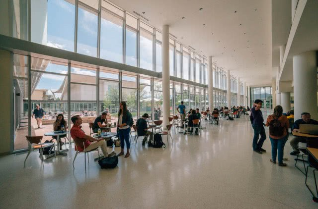 The newly renovated Lory Student Center opens to students, August 25, 2014.