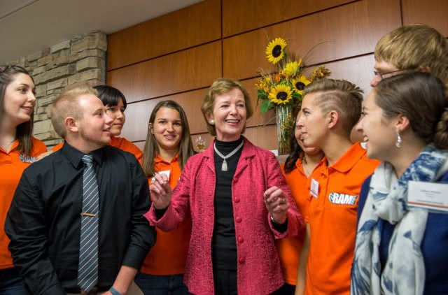 Mary Robinson, the first female president of Ireland and current United Nations special envoy for climate change, speaks at the CSU Lory Student Center Main Ballroom, October 27, 2014.