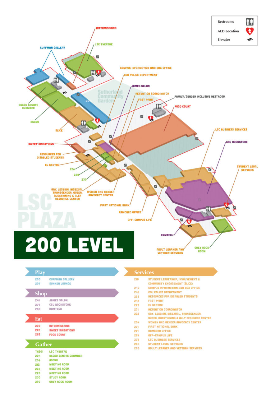 lsc-building-map-level-200