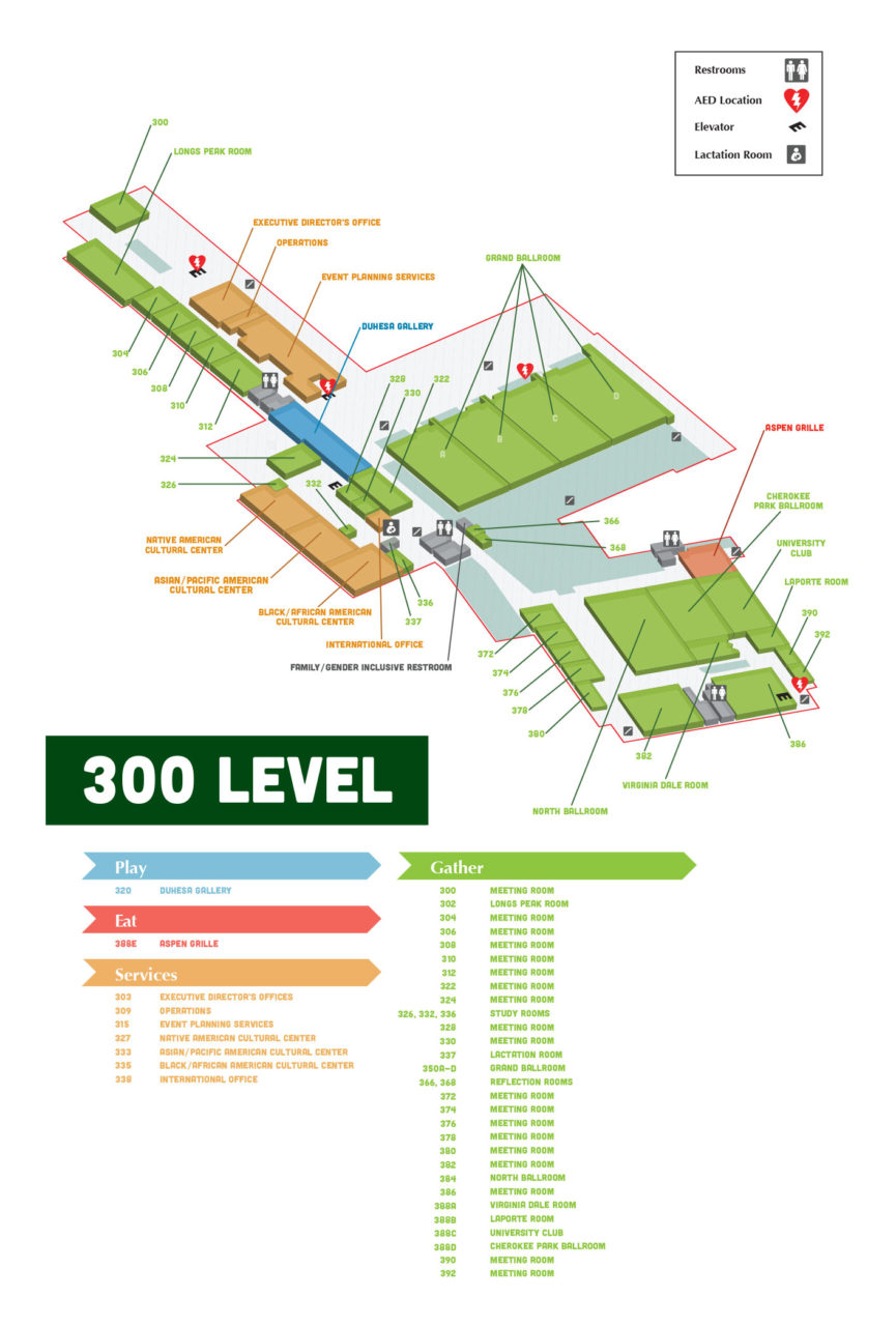 lsc-building-map-level-300