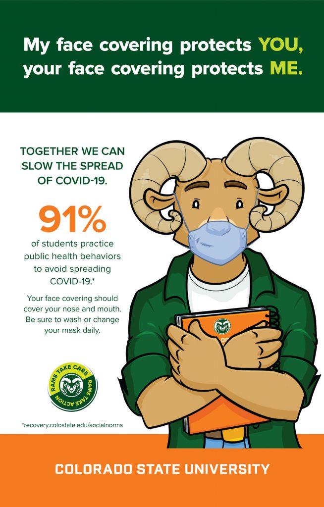 CSU Health Poster mask