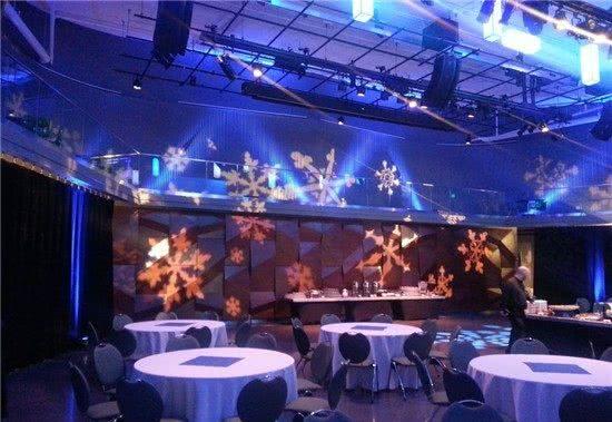LSC Ballroom decorated winter themed