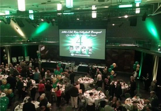 LSC Ballroom used for volleyball banquet