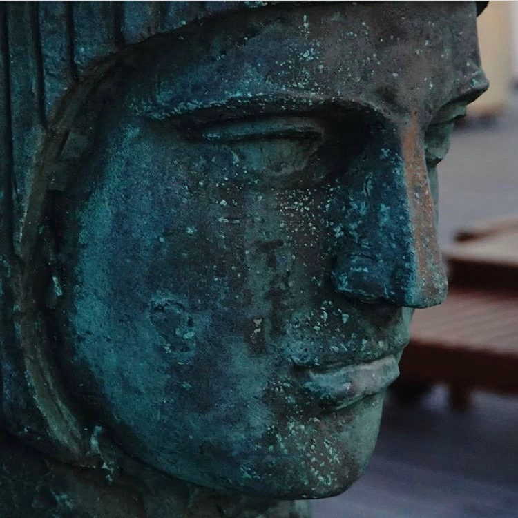 face on a statue